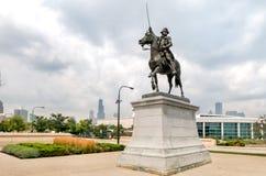 Tadeusz Kosciuszko Monument near Chicagos shedd aquarium, USA Royalty Free Stock Image