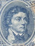 Tadeusz Kosciuszko portrait. From old Polish money Stock Images