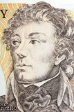 Tadeusz Kosciuszko portrait from Polish old five hundred zloty Stock Photos