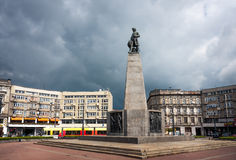 Tadeusz Kosciuszko statue in Lodz, Poland Royalty Free Stock Photo
