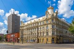 Tadeusz Kosciuszko Street Turistas y habitantes en la calle Imagenes de archivo