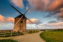 Taditional ancient windmill in France. Royalty Free Stock Image