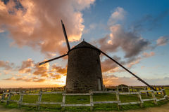 Taditional ancient windmill in France. Stock Images