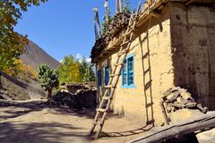 Taditional house in the Himalayan mountains, Nepal Stock Photos