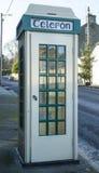 Taditional Irish Telephone Box. Traditional Public Telephone box in Ireland Stock Photo