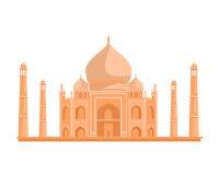 Tadj Mahal illustration i plan design royaltyfri illustrationer