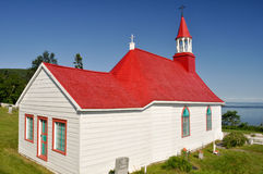 Tadoussac教堂,魁北克(加拿大) 库存图片