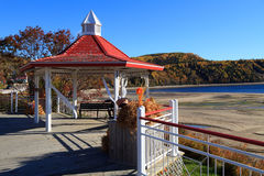Tadoussac. The beach of Tadoussac in autumn Stock Images