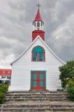 Tadoussac kapell (den äldsta kanadensiska träkyrkan) Arkivfoton
