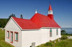 Tadoussac kapell, Quebec (Kanada) Fotografering för Bildbyråer