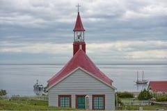Tadoussac kyrka Royaltyfri Foto