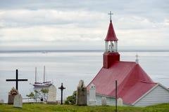 Tadoussac kyrka Royaltyfri Bild