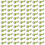 Tadpole , gift card or cloth, pattern, repeating pattern,. Tadpole, gift card or cloth Stock Photo