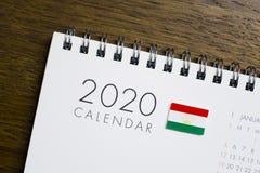 Tadschikistan-Flaggen-2020 Kalender lizenzfreie stockfotografie