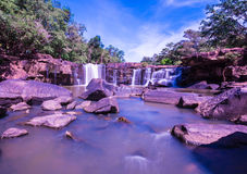 Tadtone waterfall in thailand Royalty Free Stock Photos