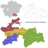 Tadzjikistan översikt vektor illustrationer