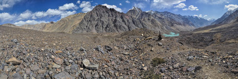 Tadzjikistan panorama arkivfoton