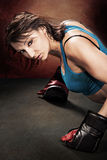 Tae Bo Girl Royalty Free Stock Image