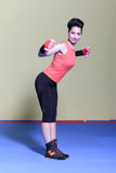 Tae-bo woman Stock Photography