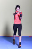 Tae-bo woman Stock Image