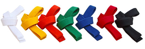 Tae Kwon Do Belts Stock Foto