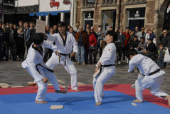Tae kwon do peace corps Stock Photos