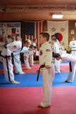 Tae Kwon Do student at test Stock Photos