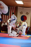 Tae Kwon Do students test for belts Royalty Free Stock Photography