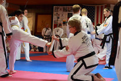 Tae Kwon Do test in Cedar Rapids, Iowa. Stock Image