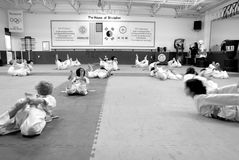 Tae Kwon faz/arte marcial coreano Fotografia de Stock Royalty Free