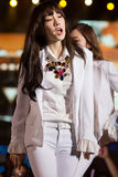 Tae Yeon of SNSD at the Human Culture EquilibriumConcert Korea Festival in Viet Nam stock image