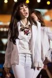 Tae Yeon von SNSD am Festival menschliche Kultur EquilibriumConcert Korea in Vietnam stockbild