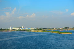 Taedong River, Pyongyang, North-Korea Stock Images