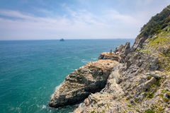 Taejongdae cliff and sea in Busan, Korea - seascape Royalty Free Stock Photo