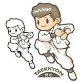 Taekkyeon is a form of traditional Korean martial art. Sports Ch Royalty Free Stock Photos