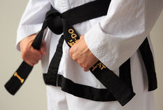 Taekwon-do black belt Royalty Free Stock Image