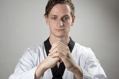 Taekwon-Do champion is preparing Royalty Free Stock Images