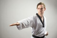Taekwon-Do man Royalty Free Stock Photo