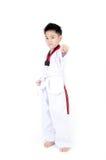 Taekwondo action  by a asian cute boy Stock Photo