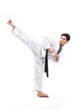 Taekwondo-Aktion lizenzfreies stockbild