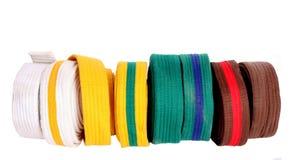 Taekwondo bälten Arkivfoton