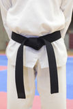 Taekwondo black belt Royalty Free Stock Photo