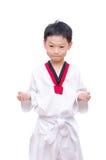 Taekwondo boy  on white background Royalty Free Stock Photography