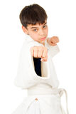 Taekwondo class boy Stock Photography
