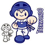 Taekwondo club mascot. Education and life Character Design serie Royalty Free Stock Photo
