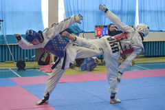 Taekwondo competition Royalty Free Stock Image