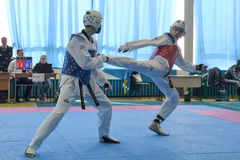Taekwondo competition Stock Image