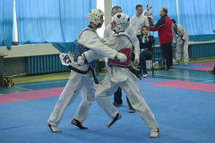 Taekwondo competition Royalty Free Stock Images