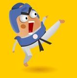 Taekwondo fighter. Furious Taekwondo fighter. Vector illustration Stock Image