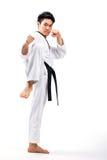 Taekwondo handling Royaltyfria Bilder